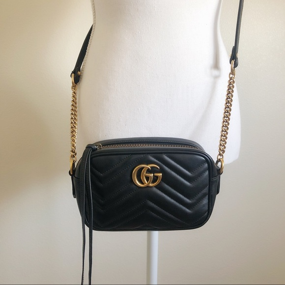 Gucci Accessories - Gucci GG Marmont Mini Matelassé Shoulder Bag